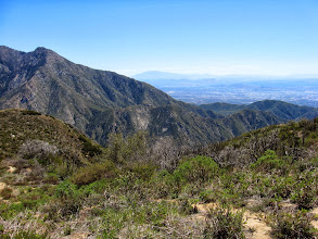 Photo: View east with San Antonio Canyon in the middle and Mt. San Jacinto on the distant horizon