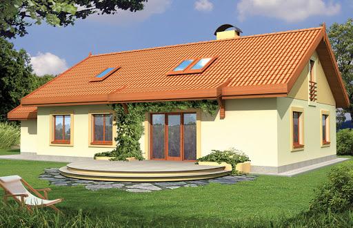 projekt Sielanka 30 st. wersja A dach 2-spadowy z pojedynczym garażem