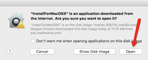 File Warning Window