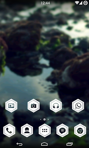 WhitePulse Icons (ADW/NOVA/GO) 1.1 screenshots 1