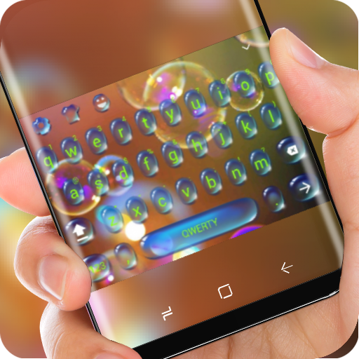 Drop Keyboard Water Bubble Theme Colorful