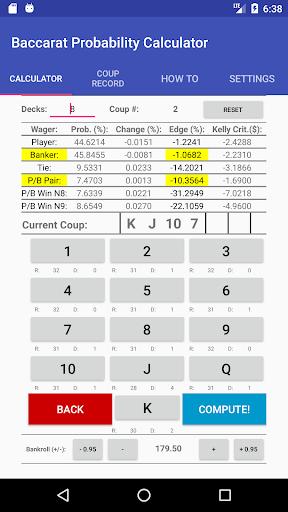 Baccarat Probability Calculator (Full) 36 screenshots 1