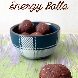 Chocolate Almond Energy Balls.