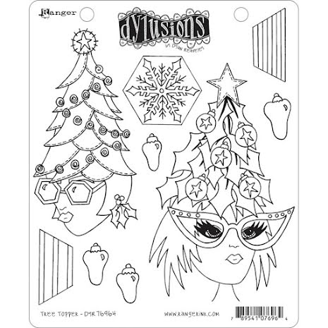 Dylusions Cling Stamps 8.5X7 - Tree Topper