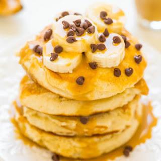 Peanut Butter Banana Protein Pancakes.