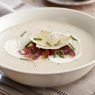 Creamy Potato and Pancetta Soup.