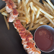 Grilled Chicken Skewer with your choice of side.