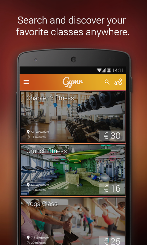 Gymr (Fitness on demand)- screenshot