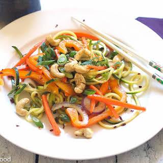 Asian Inspired Raw Zucchini Stir Fry – Serves 6.