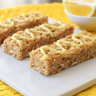 Iced Lemon Cookie Granola Bars (No Bake!)