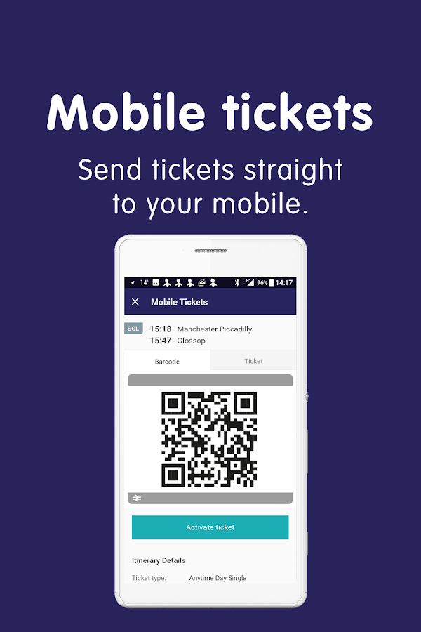 Northern train tickets & times- screenshot