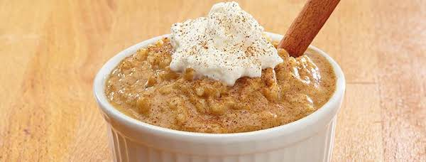 Photo And Recipe From Minute Rice. Http://www.minuterice.com/en-us/recipes/13674/pumpkinpiericepudding.aspx#.vcmn5mj0wdu