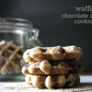 Waffle Chocolate Chunk Cookies