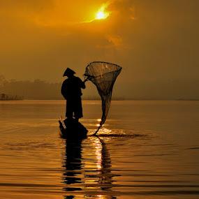 Golden Moment by Petrus Arif - People Portraits of Men