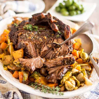 Maple Balsamic Braised Cross Rib Roast Recipe