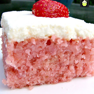 Strawberry and Coconut Poke Cake