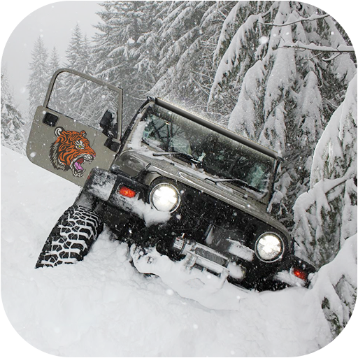 Offroad Snow Jeep Driving 4x4 Mountain Drive