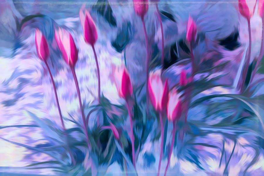 by Mark Wathen - Digital Art Things ( watercolor, arrangement, flowers, garden )