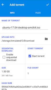 Mango Torrent Downloader Pro Screenshot