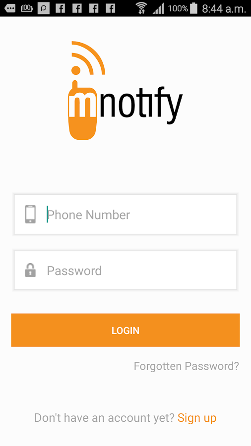 mNotify SMS Messenger- screenshot