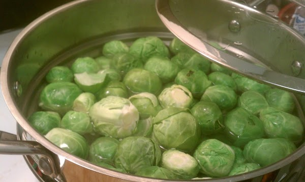 Cook the sprouts for 10 minutes. Drain, and set aside.