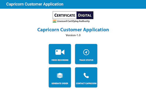 Capricorn Customer Application- screenshot thumbnail