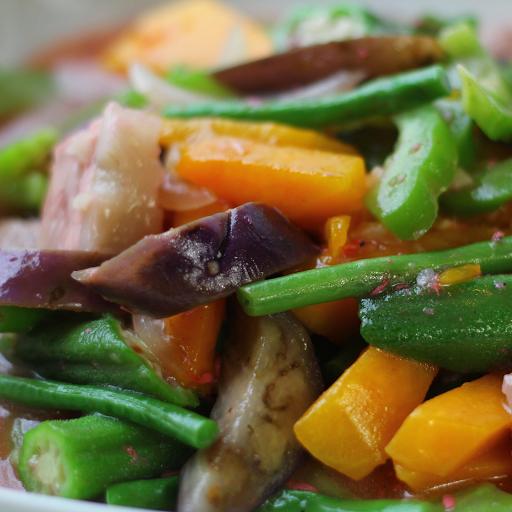Tropical Vegetables in Shrimp Paste