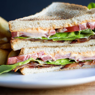 Candied Bacon BLT with Sriracha Mayo
