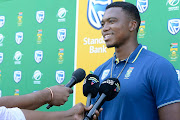 Lungi Ngidi during the South African national men's cricket team training session at Powerade Centre of Excellence on Thursday.