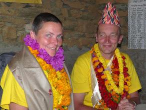 Photo: wir werden mit Mallas, Kattas und Topis geschmückt...