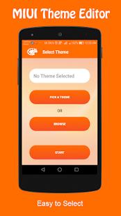 MIUI Theme Editor - náhled