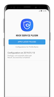 Knox Service Plugin Screenshot