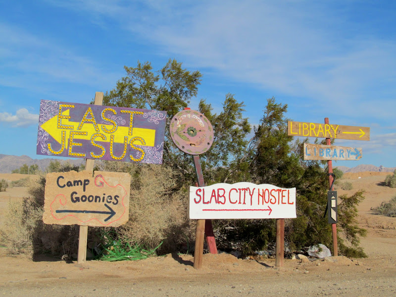 Photo: Slab City street signs