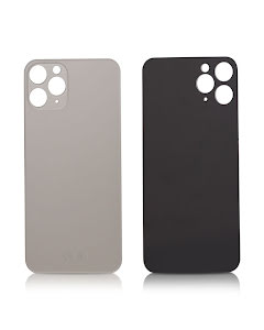 iPhone 11 Pro Max Back glass without logo High Quality Silver