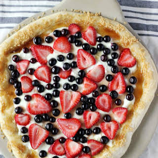Berry and Goat Cheese Dessert Pizza.
