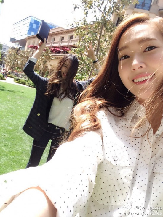 Jessica and Krystal Jung having fun