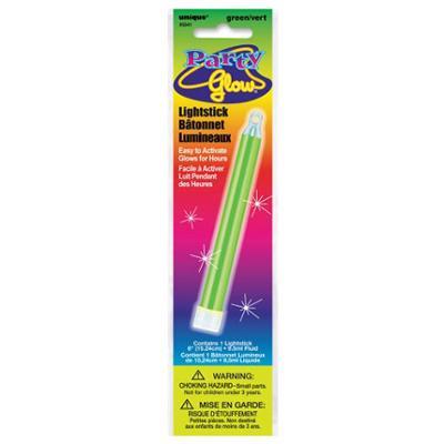 Discount Party Supplies Glow Lightstick 15cm - Green