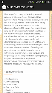 BLUE CYPRESS HOTEL - ARLINGTON- screenshot thumbnail