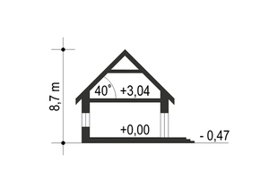 Dom Dla Ciebie 1 w3 bez garażu B - Przekrój