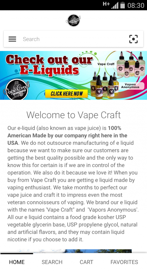 Vape Craft Inc.- screenshot