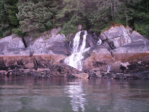 Photo: A waterfall on Stephens Passage.