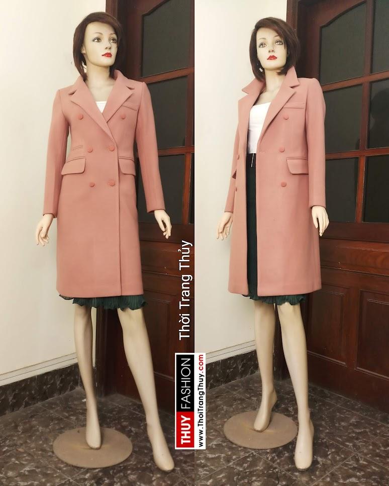 Áo măng tô dạ nữ tính và phong cách V663 tại Hải Phòng