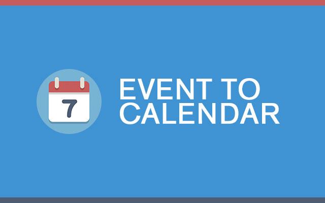 Event to Calendar