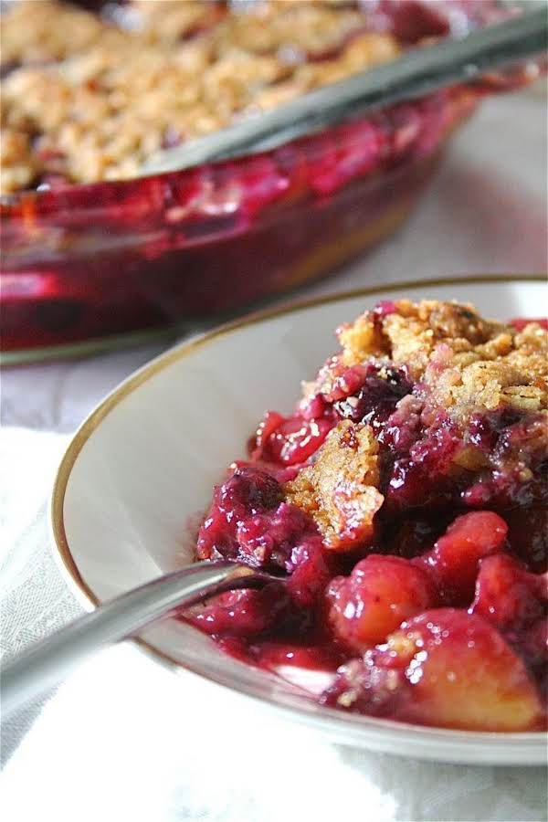 Peach-blueberry Crisp With Almond Topping