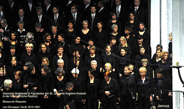 Photo: Domchor Greifswald & Figuralchor der St. Johannis Kantorei Rostock in der Nikolai Kirche Rostock   Messa da Requiem   von Giuseppe Verdi 1813-1901