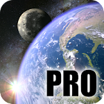 Earth & Moon in HD Gyro 3D PRO Parallax Wallpaper Icon