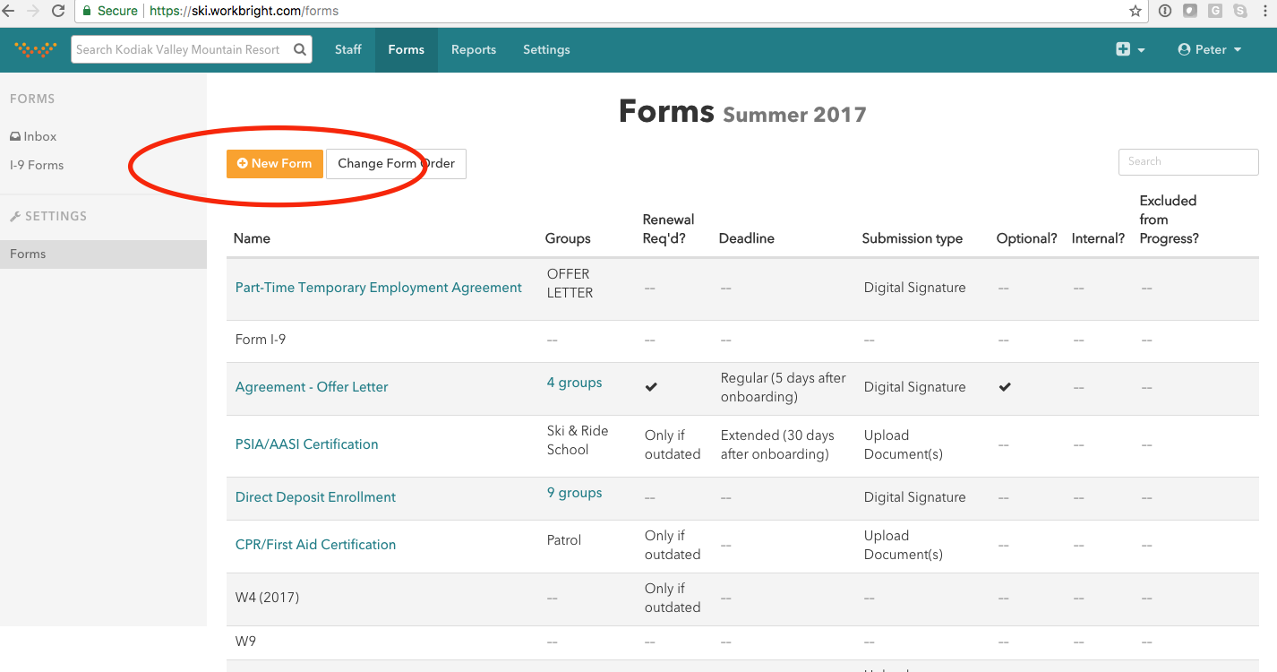 Workbright onboarding how to create an upload form on the next screen you can name the form provide additional instructions and set the deadline and renewal status if your business is seasonal xflitez Image collections