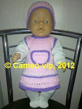 Photo: №Б1. 260 грн. Комплект на  Baby Born 43 cм: платье+колготки+повязка