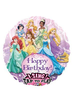 Folieballong, Prinsessor sjungande