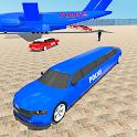 Police Limo Transport: Airplane Transporter Sim icon